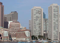 Luxury 2 bedroom condo in highrise building on the harbor in Boston