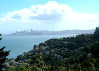 Spacious 4 bedroom Sausalito view home, overlooking San Francisco Bay. Five minutes from San Francisco