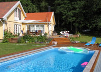 Very picturesque, lake view villa with pool in Sigtuna, Stockholm