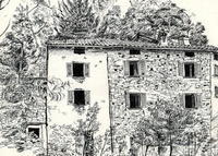 Romantic ancient stone house spectacular view on Como lake near Bellagio