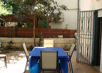 Rechavia garden apartment, 2 bedrooms, double bathroom, renovated, fully equipped with A/C included.