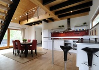 Design Wood House with lake view, flat in Bratislava-SK or Budapest-HU
