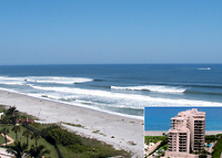 Prime Oceanfront Condo. Great ocean views, pool, and many other amenities