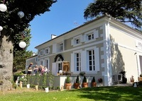 Lovely French village Maison de Maitre house with large private garden and covered pool.