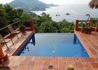 Beautiful 3 bedroom home overlooking Pacific ocean..private pool.