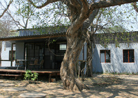 Botswana, Maun. House in the middle of nature.