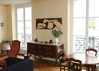 Heart of Paris, 5 room apt, 120 sq. m, sleeps 5 .