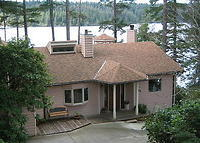 Residence with lake frontage on the central Oregon coast.