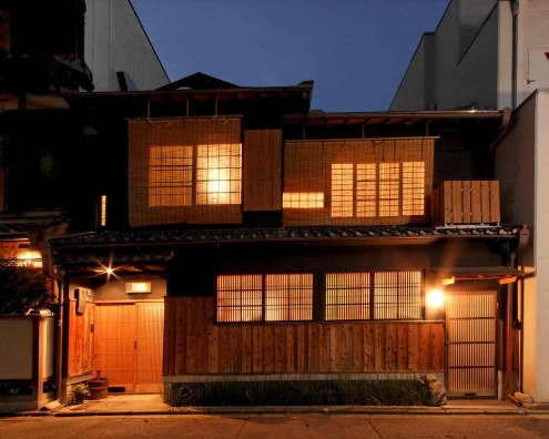 Traditional Japanese House In Historic