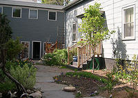 Single family home in quiet neighborhood with garden and deck