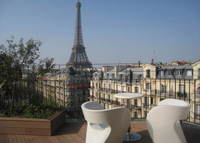Paris amazing Penthouse, private TERRACE, view on EIFFEL TOWER
