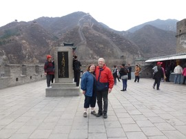 Janet and Larry at the Great Wall in China