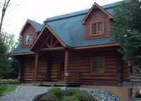 Spectacular River Front Log Home on the Beautiful Moose River