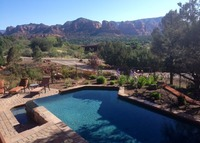 Beautiful new golf course home with pool and great views in Sedona, AZ