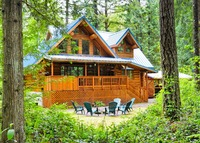Mt Hood, Oregon; Beautiful Log Home