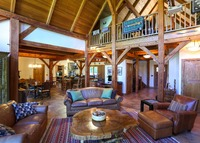Hudson Valley timber frame home on 5 acres in pretty country setting.