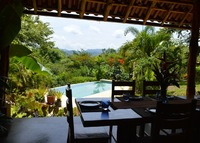 Montezuma, Costa Rica. Pool, pizza oven, yoga deck, nature.