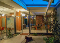 San Francisco Bay Area Mid-Century Modern house with pool.
