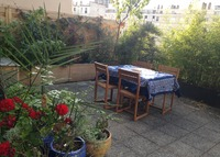 Sunny 110 sqm flat, terrace 45 sqm, 4 bedrooms, subway station 3 mn