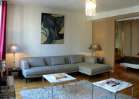 Very central Paris flat decorated in modern and artistic style