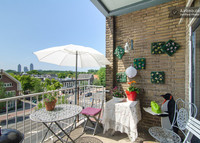 Bright comfortable Amsterdam apartment in green, lively area + balcony