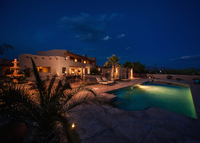 Private gated hacienda on 5 acres with panoramic views in Tucson area