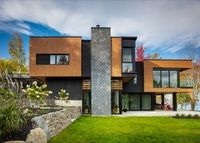 Brand new modern house by the Magog Lake, Eastern township.