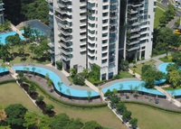 3 Bed Flat on River in Heart of Singapore with 2 x 50M pools