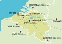 Historical Belgium: 2 hrs from Amsterdam, 4 hrs from Paris & Frankfurt