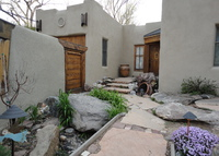 Walk to downtown Taos Adobe Home in the Historic District