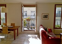 Sunny top-floor, two-bedroom apartment in the heart of the Left Bank.
