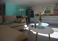 Lovely newly completed apt in a villa minutes to best european beaches