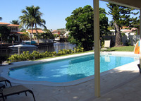 Waterfront 5 Bedroom, 4 full bath pool home, close to beach & shops