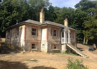 Historic country house in woodland near Canterbury England