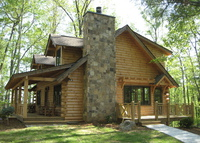 Luxury Custom Log Cabin with Spa Bathroom, Hot Tub, Fire Pit & Wifi