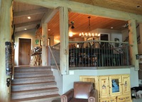 Luxury log home in Whistler, British Columbia ideal for families.