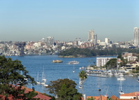 Large one bedroom apartment with panoramic views over Sydney Harbour