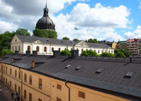 Heart of Stockholm, next to the Royal stable.