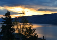 Okanagan lake view in the middle of wineries, ski hills and beaches